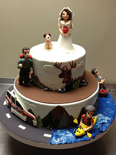 Groom Outdoor Enthusiast Cake - Grooms & Sports - 1