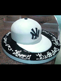 White New York Yankees Hat Cake - Grooms & Sports - 14