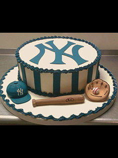 New York Yankees Logo Cake - Grooms & Sports - 17