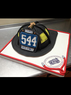 Firefighter's Helmet Cake - Grooms & Sports - 22