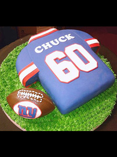 New York Giants Jersey Cake - Grooms & Sports - 24