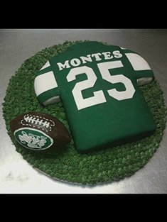 New York Jets Jersey Cake - Grooms & Sports - 25