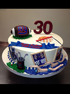New York Giants Cake - Grooms & Sports - 38