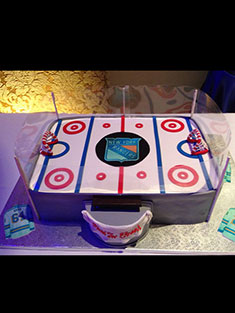 New York Rangers Ice Rink Cake - Grooms & Sports - 44