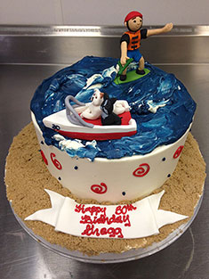 Wakeboarding Cake - Grooms & Sports - 46