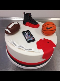 Sports Enthusiast Cake - Grooms & Sports - 52