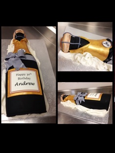 Champagne Birthday Cake - Grooms & Sports - 59