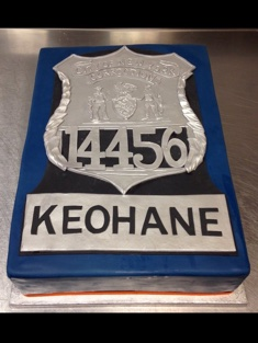 Police Badge Cake - Grooms & Sports - 61