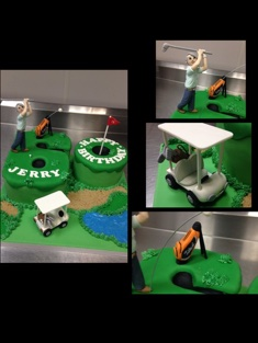 Golf Enthusiast Cake - Grooms & Sports - 64