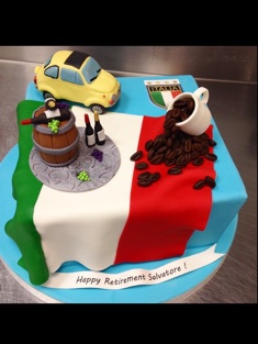 Italy Retirement Cake - Grooms & Sports - 71