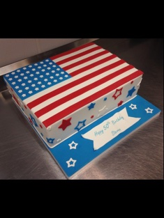 American Flag Cake - Grooms & Sports - 74