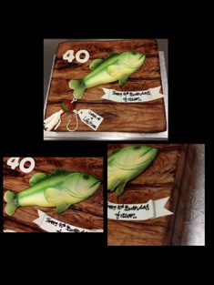 Fishing Enthusiast Cake - Grooms & Sports - 75