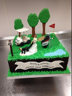 Wedding or Golf Cake - Grooms & Sports - 76