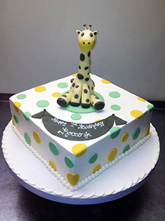 Happy 1st Birthday Cake (Giraffe) - Baby, Kids & Religious Cakes - 3