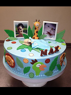 Zoo Themed Cake - Baby, Kids & Religious Cakes - 113
