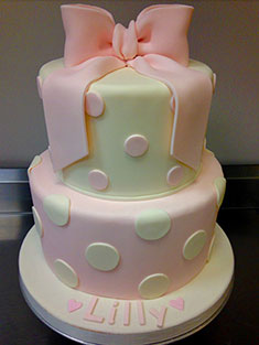 Pink Bow Cake - Baby, Kids & Religious Cakes - 123