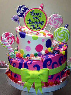 Candy Birthday Cake - Baby, Kids & Religious Cakes - 15