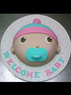 Welcome Baby Cake - Baby, Kids & Religious Cakes - 42