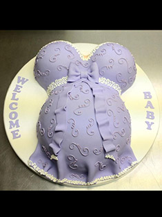 Pregnant Belly Cake (Purple) - Baby, Kids & Religious Cakes - 43