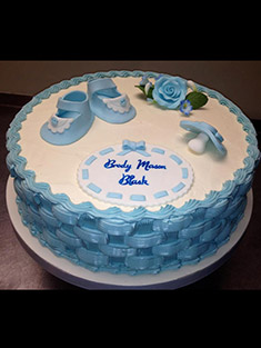 Blue Baby Shower Cake - Baby, Kids & Religious Cakes - 46