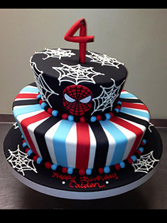 Spider Man Tiered Cake - Baby, Kids & Religious Cakes - 69
