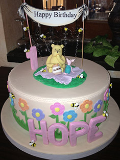 Winnie the Pooh and Piglet Birthday Cake - Baby, Kids & Religious Cakes - 97