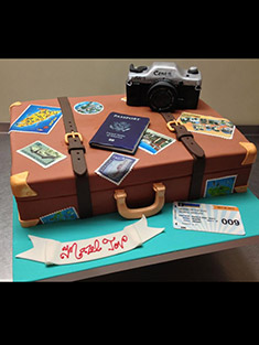 Suitcase, Traveler Cake - Shaped Cakes - 1