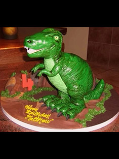 Dinosaur T-Rex Birthday Cake - Shaped Cakes - 2