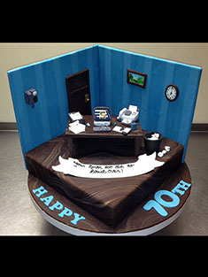 Corner Office Cake - Shaped - 100