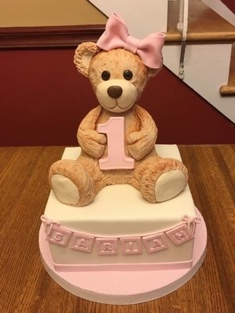 Girls First Bear Cake - Shaped - 111