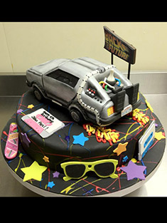 Back to the Future Cake - Shaped Cakes - 20