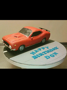 Happy Birthday Hot Rod Cake - Shaped Cakes - 30