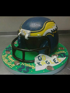 Football Helmet Cake - Shaped Cakes - 40