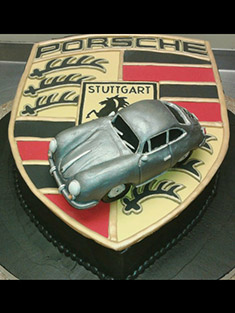 Porsche Logo and Car Cake - Shaped Cakes - 63