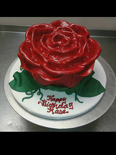 Red Rose Cake - Shaped Cakes - 65