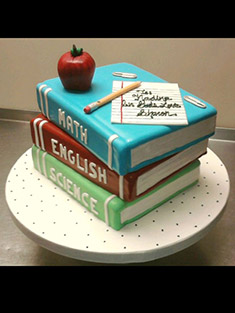 Teacher's School Books Cake - Shaped Cakes - 72
