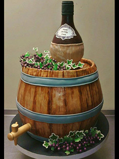 Wine Barrel Cake - Shaped Cakes - 79
