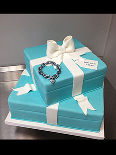 Tiffany Box Cake - Shaped - 95