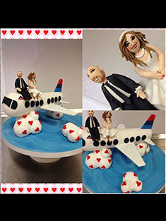 Bride and Groom Airplane Cake - Shaped - 99