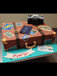 Mazel Tov Traveler's Cake - Sweet 16 & Bar/Bat Mitzvah - 1
