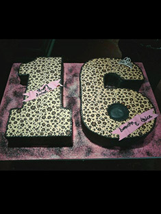 Sweet 16 Number Cake - Sweet 16 & Bar/Bat Mitzvah - 6