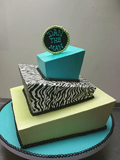 Modern Tiered Cake - Sweet 16 & Bar/Bat Mitzvah - 7