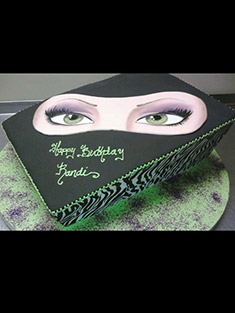 Green Eyes Sweet 16 Cake - Sweet 16 & Bar/Bat Mitzvah - 14
