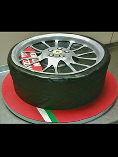 Ferrari Rim Cake - Sweet 16 & Bar/Bat Mitzvah - 24