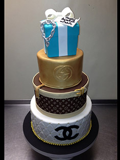 Chanel, Louis Vuitton & Tiffany Themed Cake - Sweet 16 & Bar/Bat Mitzvah - 31
