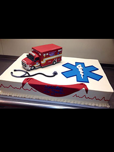 EMS Truck Cake - Single Tiered - 3