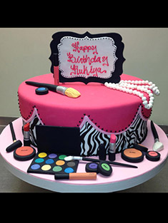 Makeup Artist's Cake - Single Tiered - 4