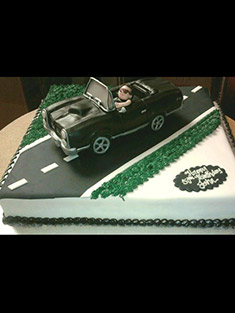 Convertible Open Road Cake - Single Tiered - 7