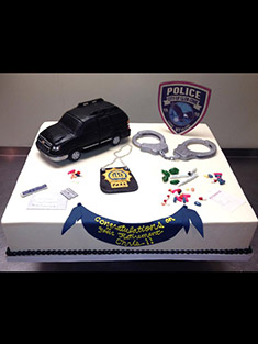 Police Department Cake - Single Tiered - 9