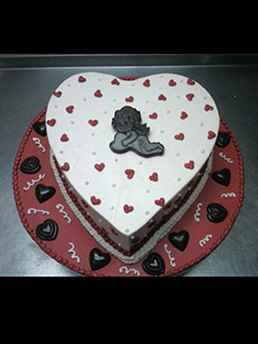 Heart Shaped Cake - Single Tiered - 26